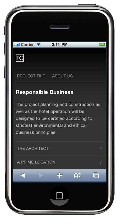 FC Hotel iPhone Proyecto